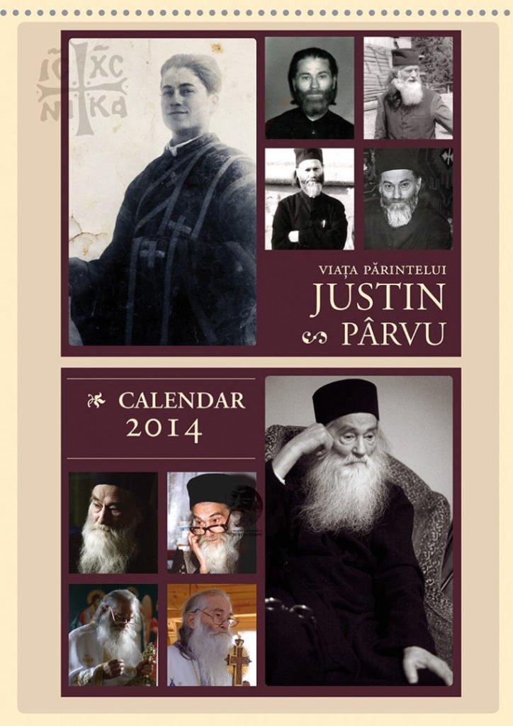 Coperta calendar_Parintele Justin_2014