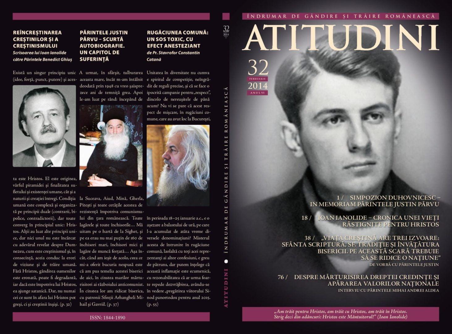 A apărut revista ATITUDINI, nr. 32